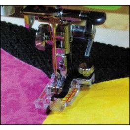 Janome piedino trasparente per quiltare con guida for Macchina da cucire salmoiraghi 133